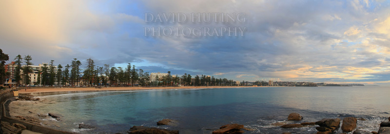 Manly Sunrise Pano 4 Shot