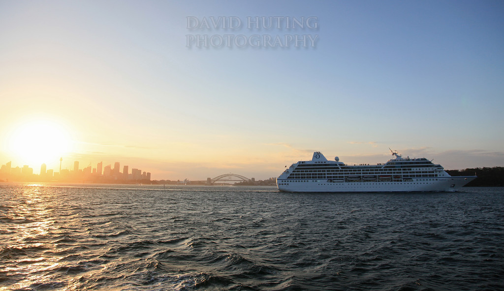 Cruise Ship Sunset Sydney