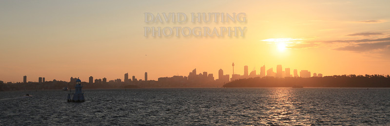Sydney Sunset Pano View 2