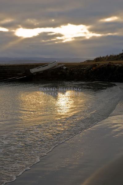 Shoreline Canoe at Sunset<br /> Maria Island