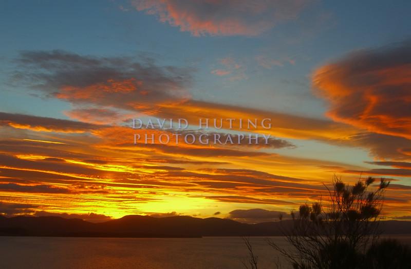 Colorful Sunset Skies<br /> Southeastern Tasmania