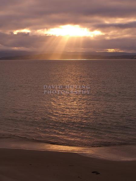 Sunset Rays on Maria Island