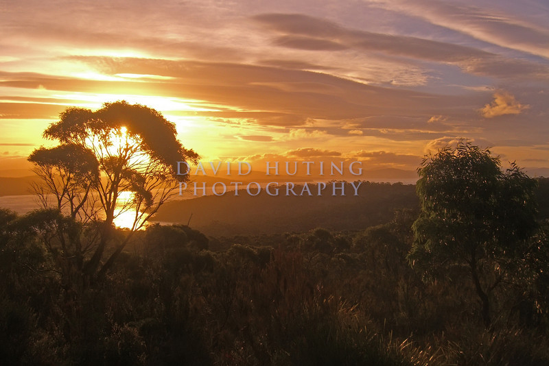 Colorful Sunset Skies<br /> Bruny Island