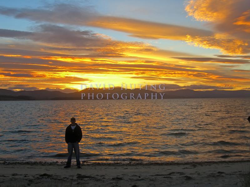 Reflecting at Sunset