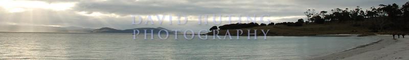 Exploring the Beach Panoramic<br /> Maria Island, Tasmania