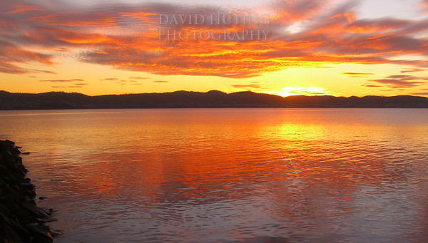 Colorful Sunrise Panoramic<br /> Hobart, Tasmania