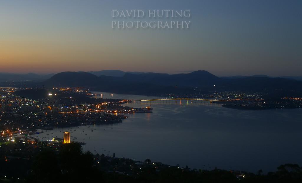 Night Scene of Hobart<br /> Taken from Signal Station
