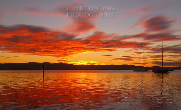 Colorful Autumn Sunrise<br /> Hobart, Tasmania
