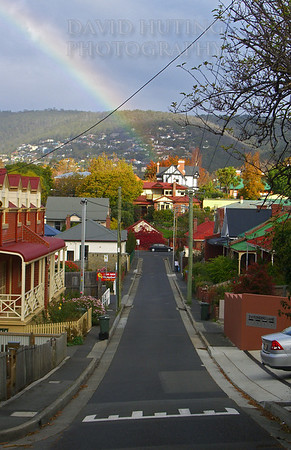 Colorful City View<br /> Hobart, Tasmania