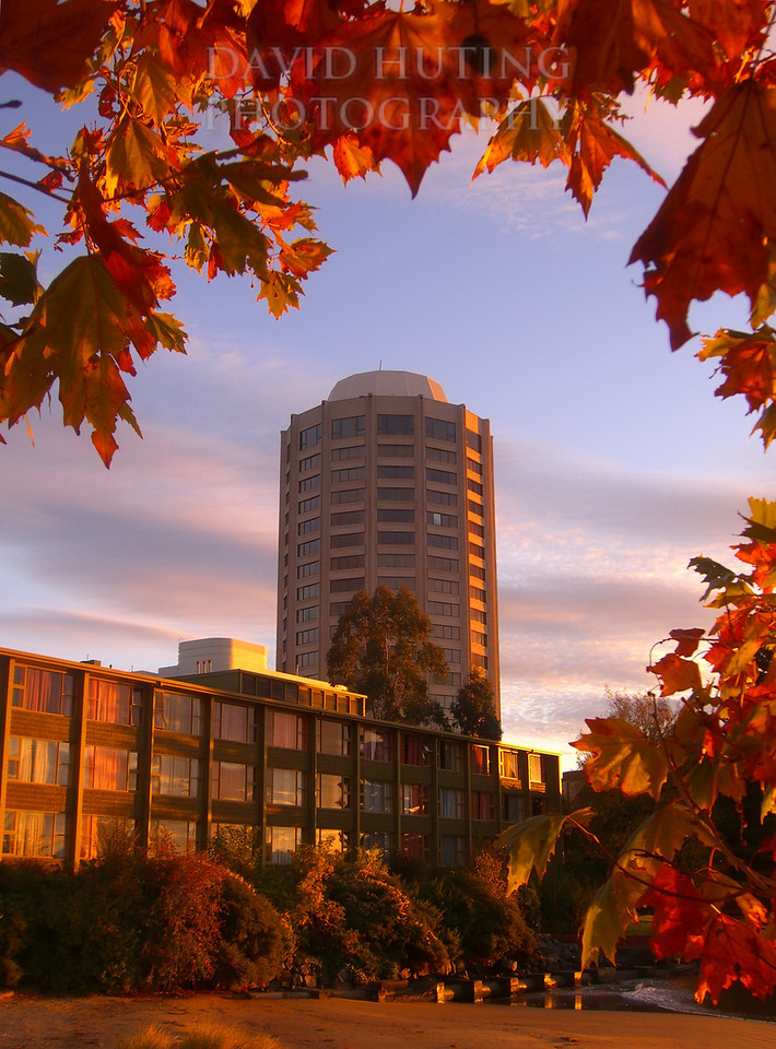 Autumn Sunrise View of Wrest Point Casino<br /> Hobart, Tasmania
