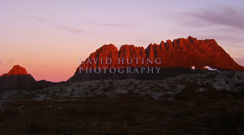 Sun Setting on Cradle Mountain