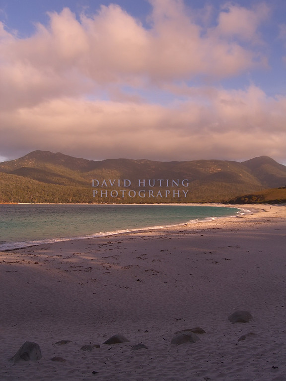 Warm Sunset View of Wineglass Bay