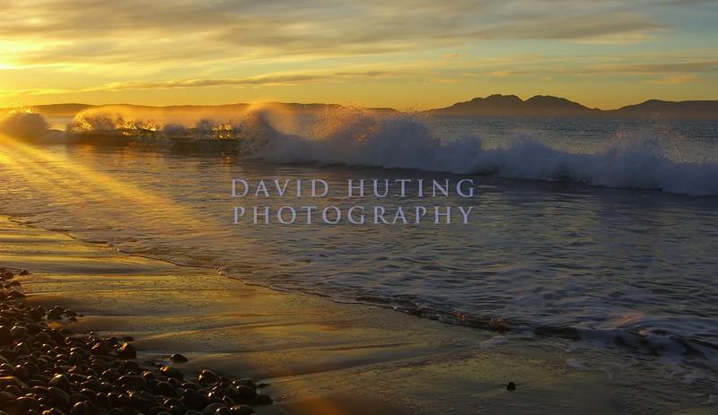 Golden Wave Breaking at Sunrise<br /> Eastern Tasmania