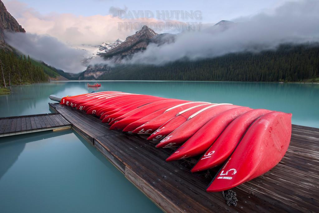 Sunrise on the Dock<br /> Lake Louise