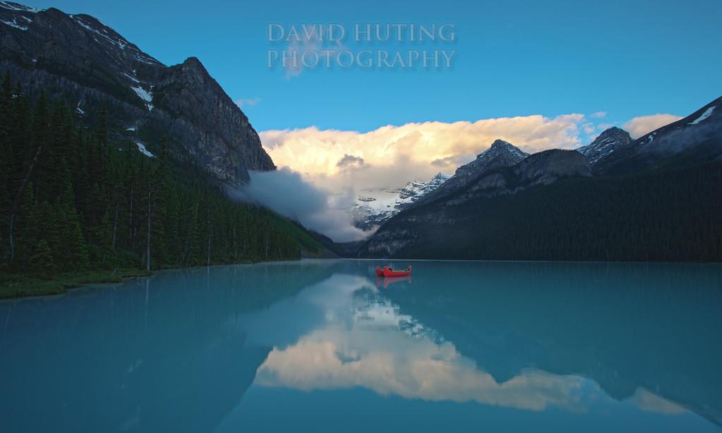 Early Morning Blues - Lake LouiseF