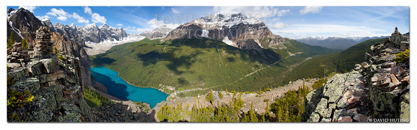 """Valley of the Ten Peaks""<br /> A 14-shot panorama taken from on top of the Tower of Babel, overlooking Moraine Lake and the Valley of the Tean Peaks.  <br /> Epic Canvas Prints:<br /> <a href=""http://www.epicwallart.com/products/valley-of-the-ten-peaks"">http://www.epicwallart.com/products/valley-of-the-ten-peaks</a>"