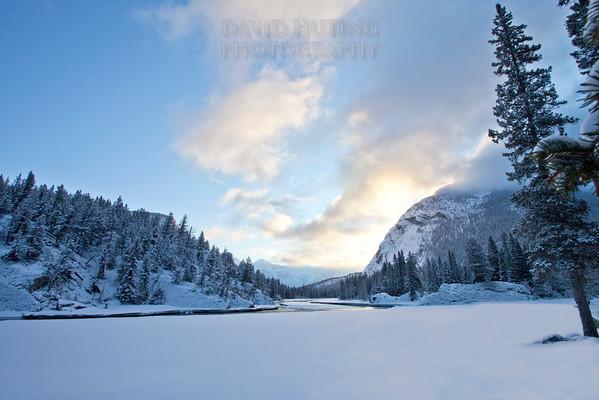 Bow River Sunrise Cloudsf
