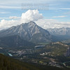 Banff Township as seen from the slopes of Sulphur Mountain.