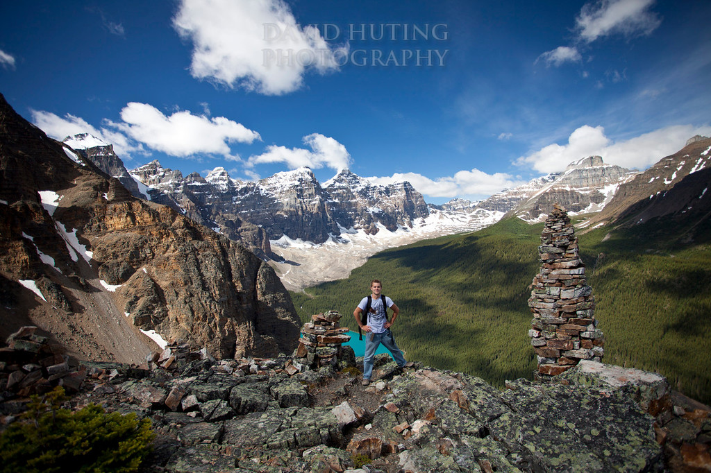 Me on top of the Tower of Babel, Morraine Lake lq