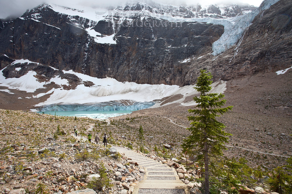 Steps to Cavell Pond