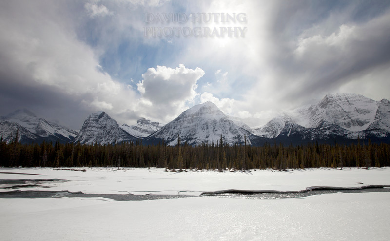 Swirling Mountain Skies on Icefield Parkway - Jasper