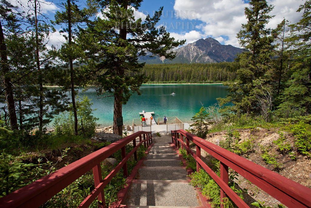 Red Stairs Patricia Lake View