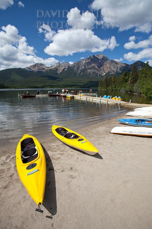 Pyramid Lake Dock View   Kayaks