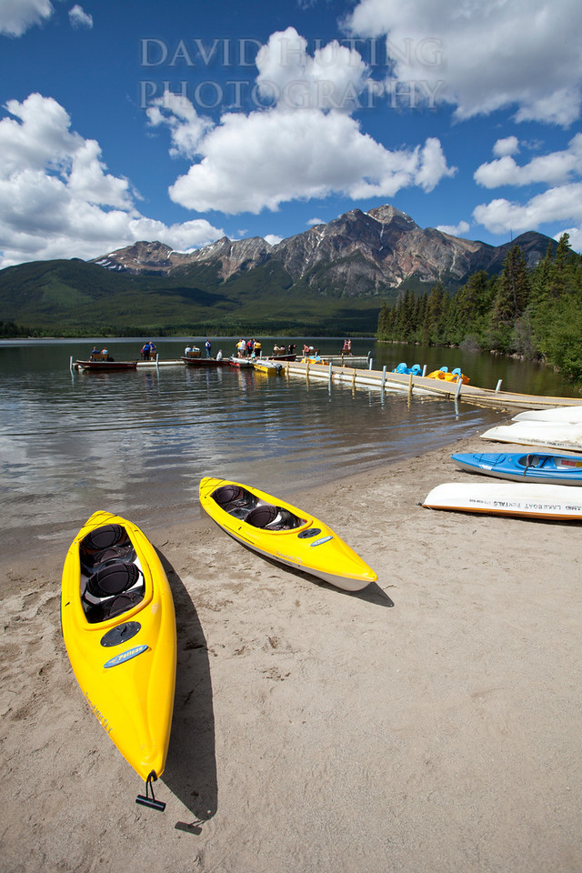 Pyramid Lake Dock View   Kayaks
