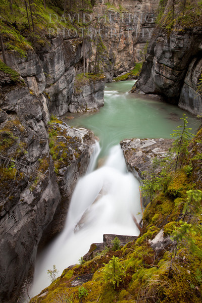 Maligne Canyon Flowing
