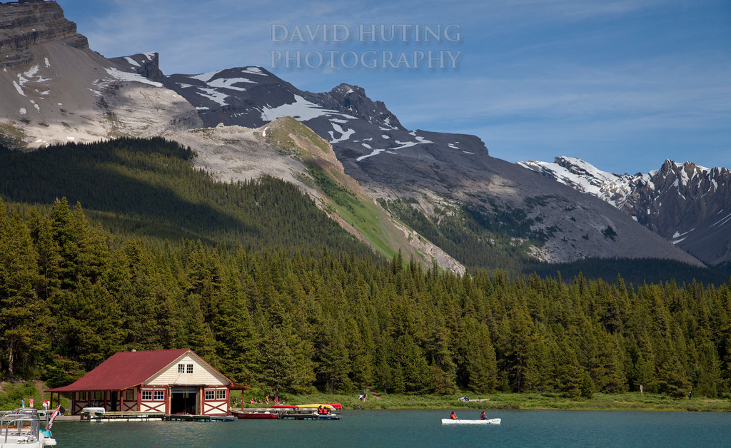 Maligne Boathouse View Zoomed