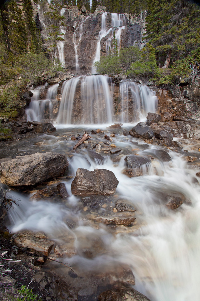 Tangle Falls Flowing - Vertical no sky
