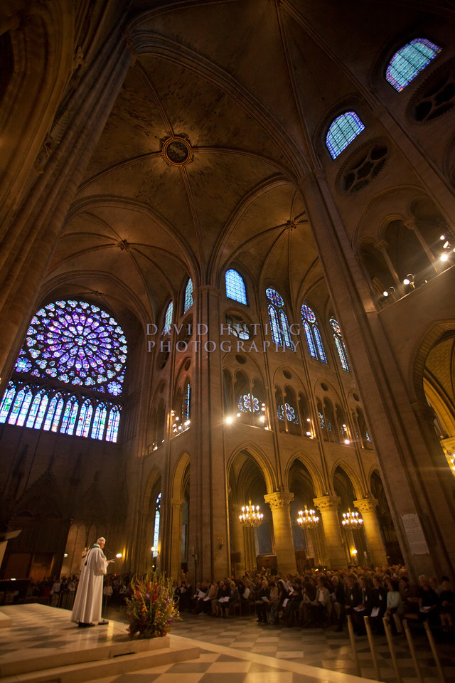 Notre Dame vertical priest