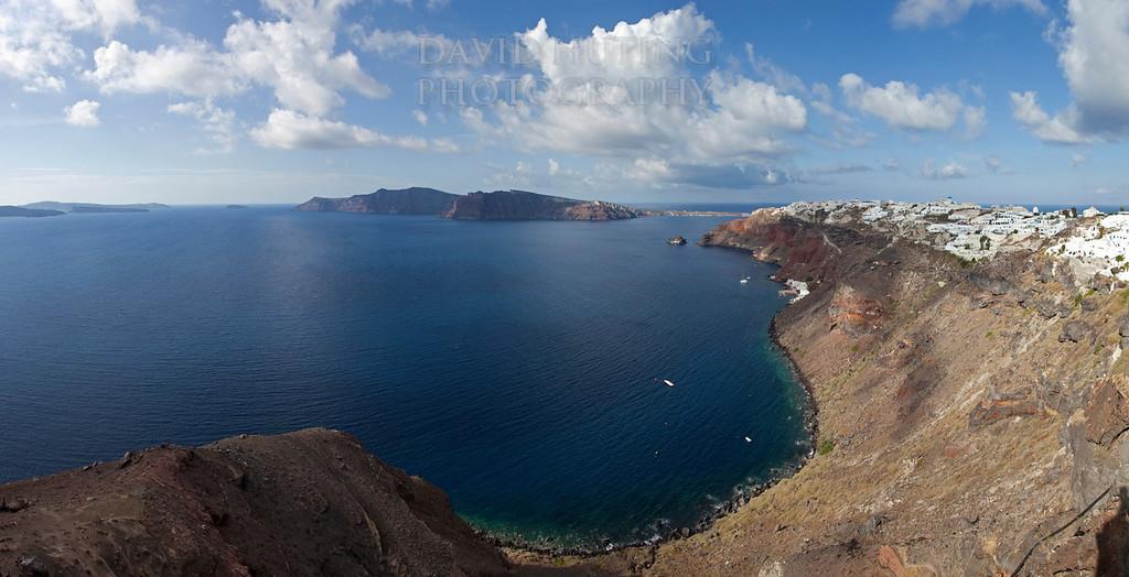 Oia Coastline View Pano