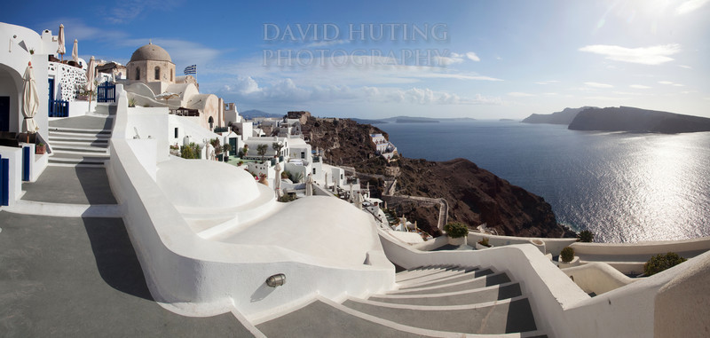 Oia Stairwell Panoramic
