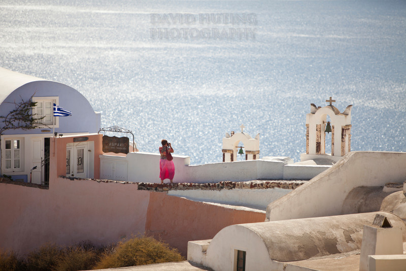 Oia Lookout - Woman