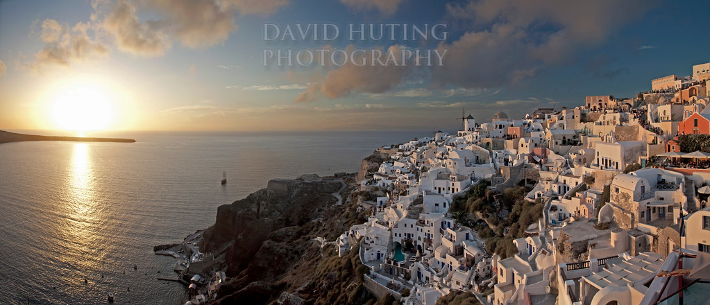 Oia Sunset Pano BEST