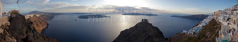 Santorini Coastline Full Panoramic