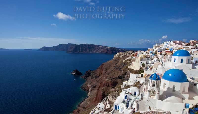 Oia Blue Domes Coast View Cropped