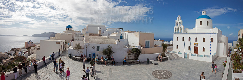 Oia Church   Lookout Panoramic