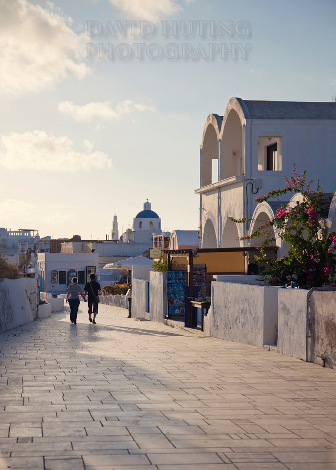 Couple Walking Oia