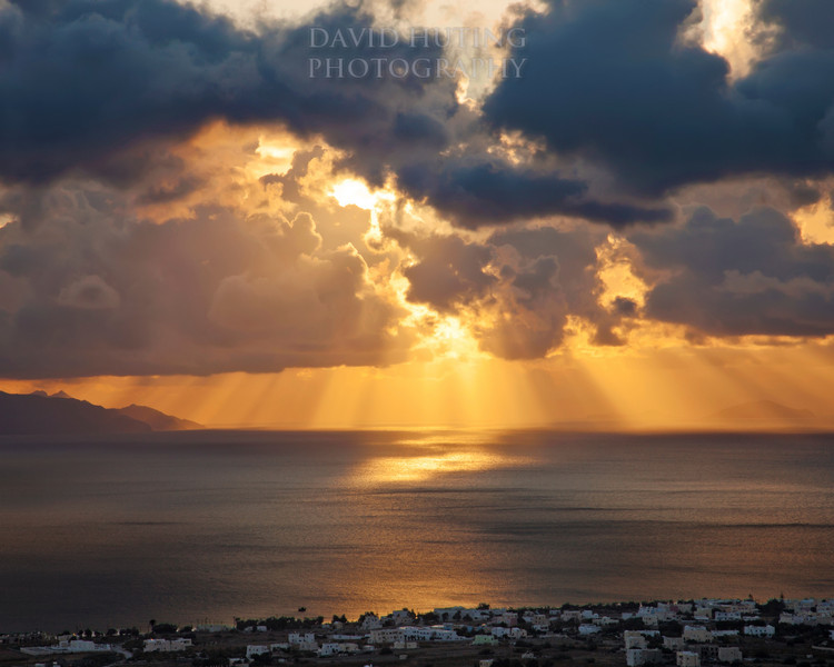Epic Santorini Sunrise 16x20