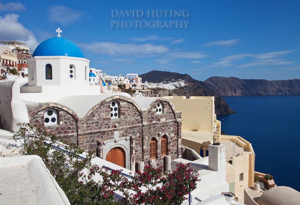 Blue Church Oia View