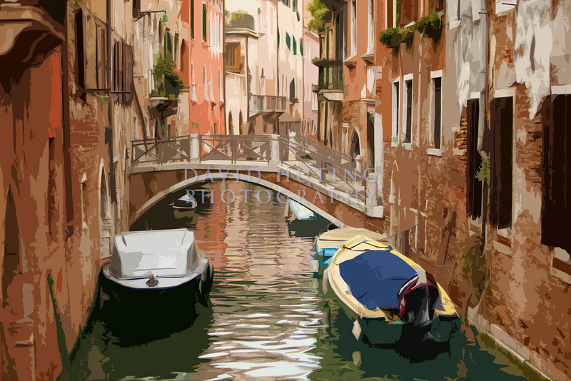 Venice boats   bridge artsy