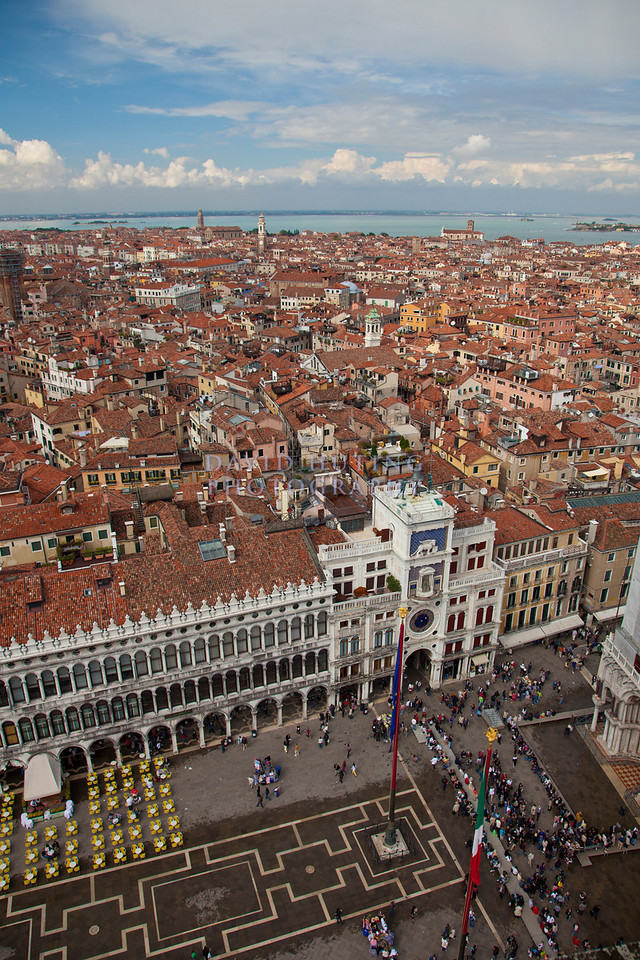 St marks square aerial view