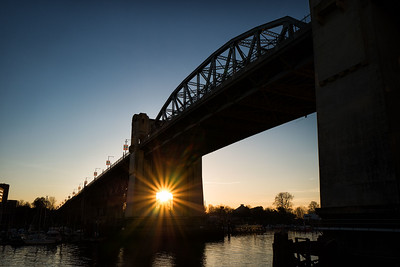 Sunburst at Burrard Bridge