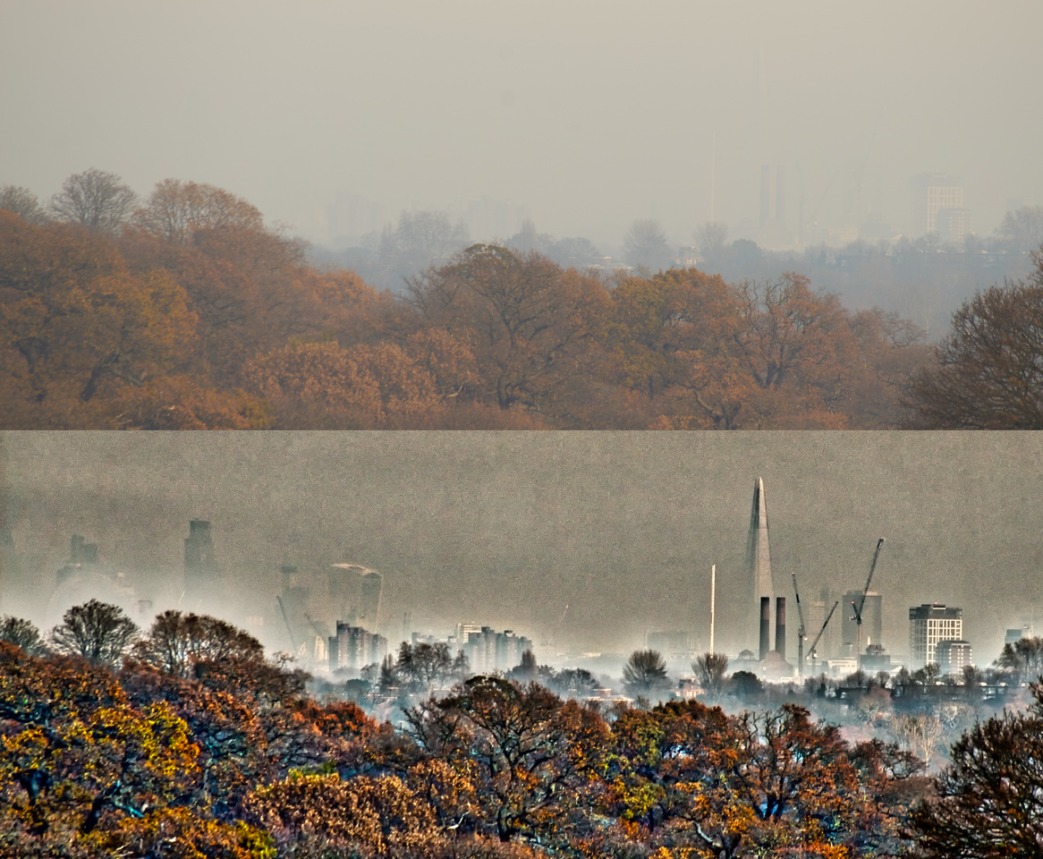 1st Recce - Haze made it impossible to see, but using HDR, I could bring out details invisible to the human eye.