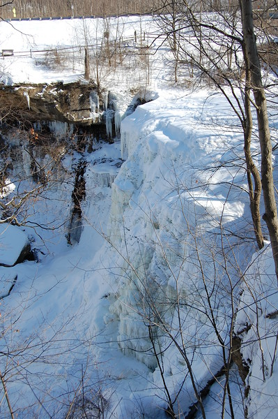 The Main Falls...Frozen Solid!
