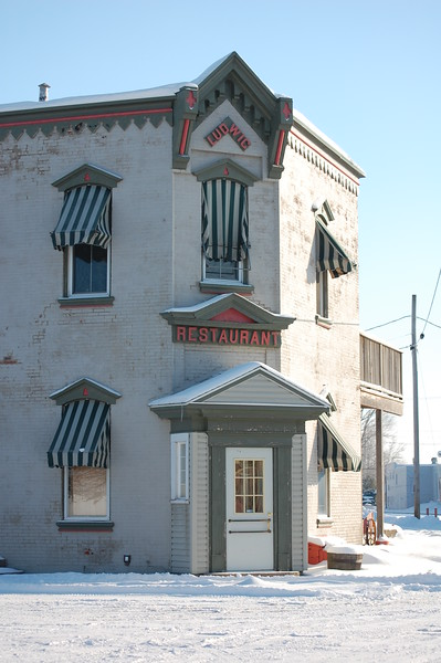 """The Old """"Manhattan"""" Restaurant, now part of the Historical Society Train Museum"""
