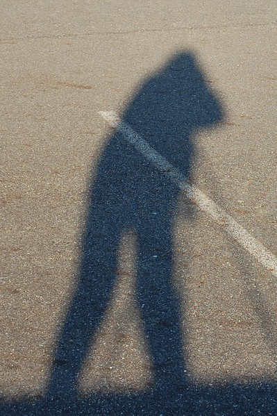 Playing with shadow self portraits :)