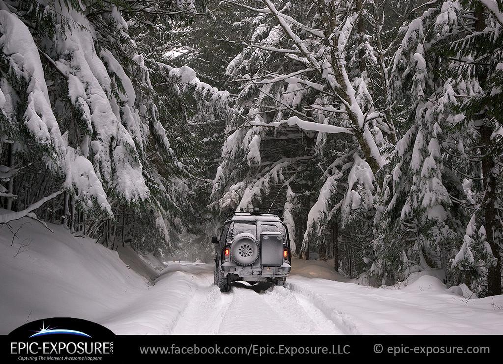 0951: Sportsmobile navigating FS-55 Snoqualmie Pass, WA 2007